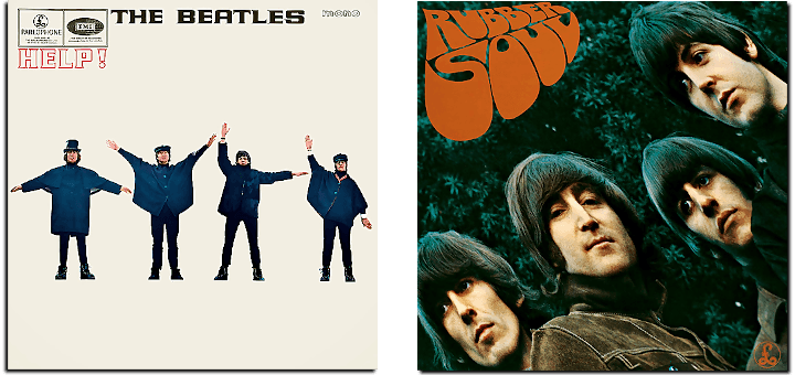 Help and Rubber Soul album covers