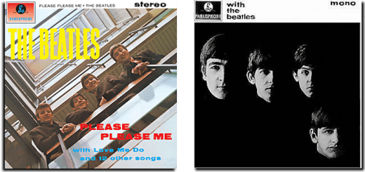 Please Please Me and With The Beatles album covers