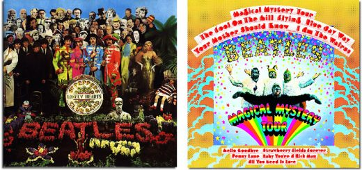 Sergeant Peppers Lonely Hearts Club Band and Magical Mystery Tour album covers
