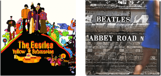 Yellow Submarine and Abbey Road album covers